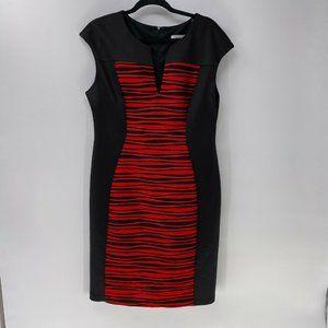 Dressbarn black red sheath dress womans sz 16